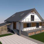 wizualizacja remontu domu jednorodzinnego
