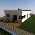 wizualizacja małego domku jednorodzinnego