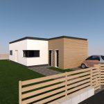 wizualizacja małego domku jednorodzinnego,domek na wąskiej działce
