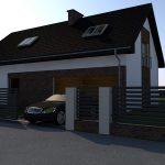 projekt elewacji nowoczesnego domu jednorodzinnego