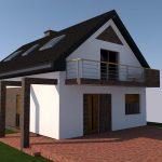 projekt nowoczesnej stodoły z cegłą klinkierową